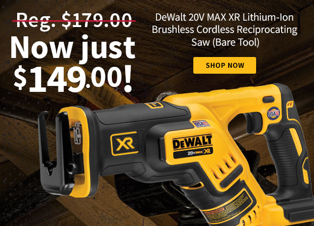 DeWalt 20 Volt MAX XR Lithium-Ion Brushless Cordless Reciprocating Saw (Bare Tool)