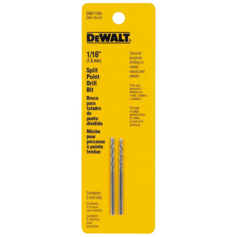 DeWalt 1/16 In. Gold Ferrous Oxide Pilot Point Drill Bit (2-Pack) Image 2