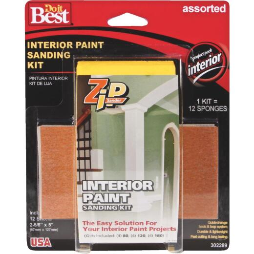 Do it Best Zip Sander Paint Hand Interior Sanding Kit