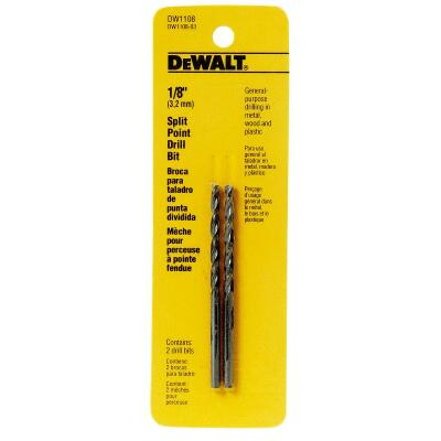 DeWalt 1/8 In. Gold Ferrous Oxide Pilot Point Drill Bit (2-Pack)