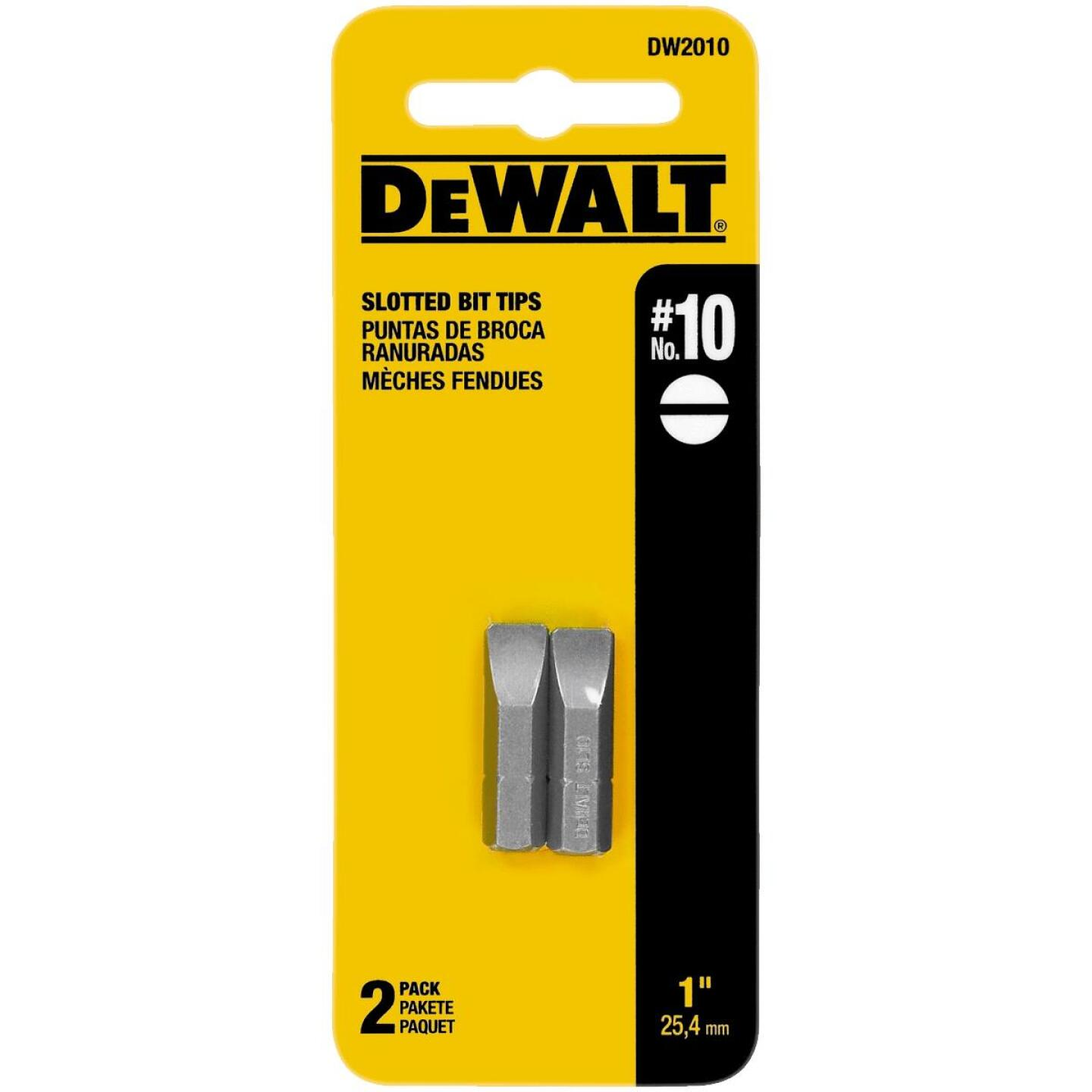 DeWalt Slotted #10 1 In. Insert Screwdriver Bit Image 1