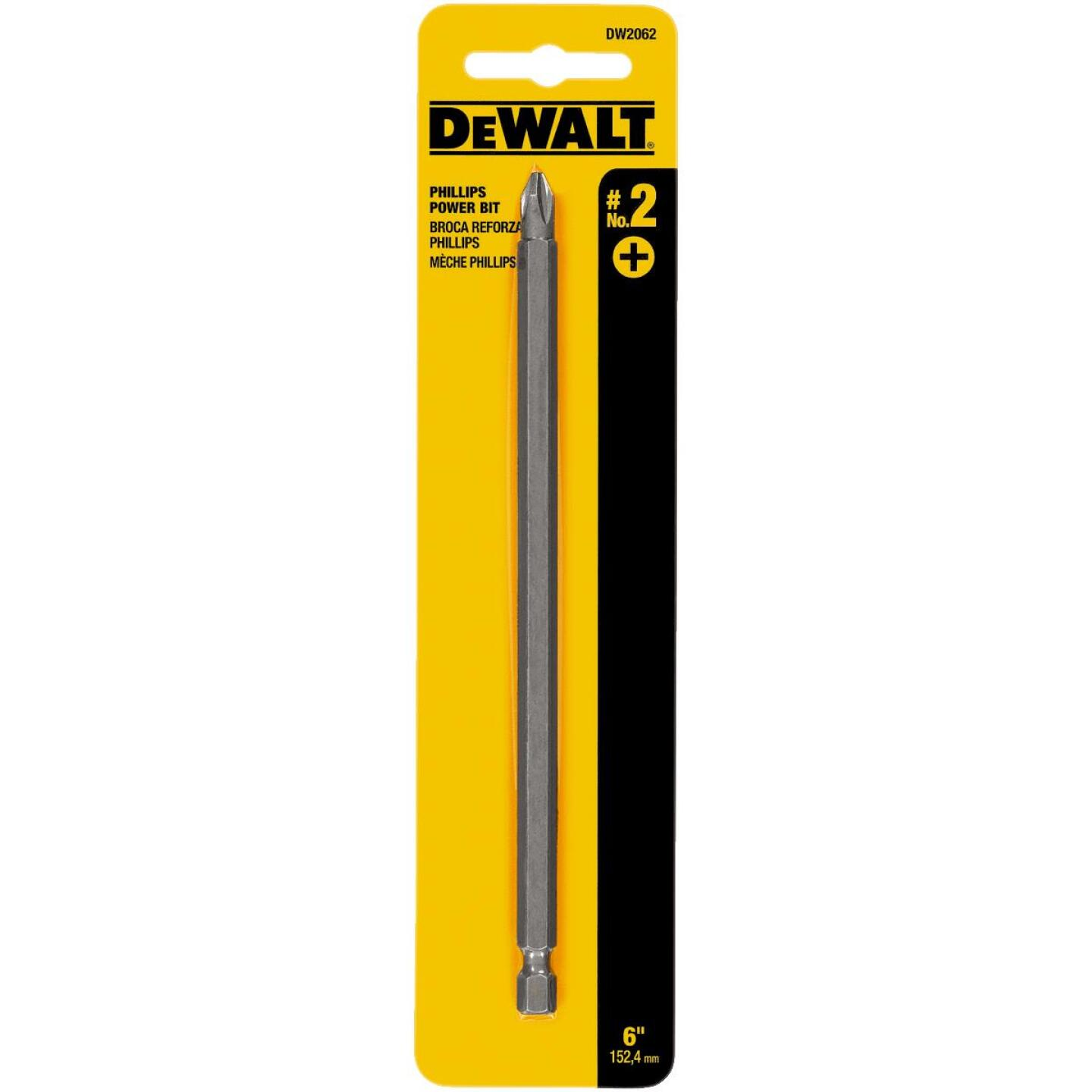 DeWalt Phillips #2 6 In. 1/4 In. Power Screwdriver Bit Image 1