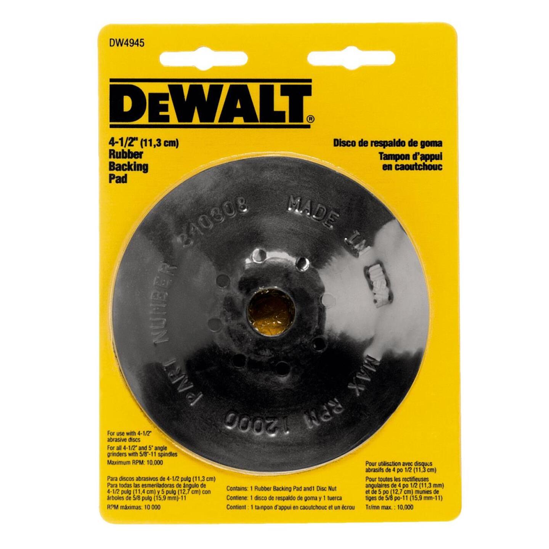 DeWalt 4-1/2 In. Power Angle Grinder Rubber Backing Pad Image 2