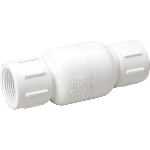 ProLine 1/2 In. PVC Schedule 40 Spring Loaded Check Valve