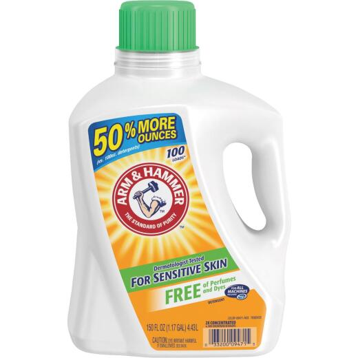 Arm & Hammer 150 Oz. 100 Load Sensitive Skin Liquid Laundry Detergent