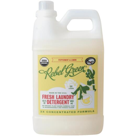 Rebel Green 64 Oz. 64-Load Peppermint & Lemon Laundry Detergent