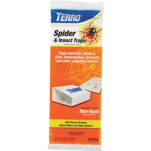 Terro Indoor Glue Insect & Spider Trap (4-Pack)