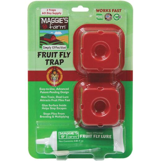 Maggie's Farm Indoor Fruit Fly Trap (2-Pack)