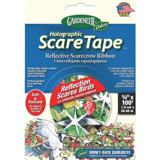Gardeneer Holographic Scare Tape 3/4 In. W. x 100 Ft. L. Bird Deterrent Tape