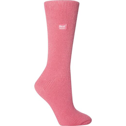 Heat Holders Women's 5 to 9 Pink Thermal Sock