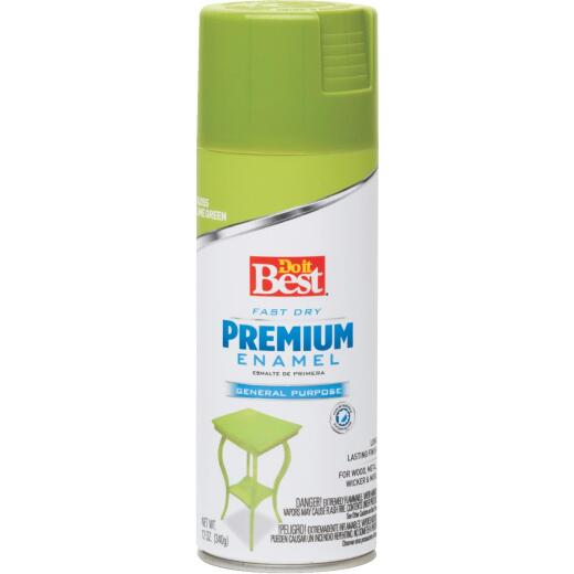 Do it Best Premium Enamel 12 Oz. Satin Spray Paint, Lime Green