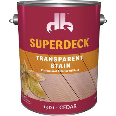 Duckback SUPERDECK Transparent Exterior Stain, Cedar, 1 Gal.
