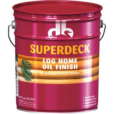 Duckback SUPERDECK Translucent Log Home Oil Finish, Amber Hue, 5 Gal.